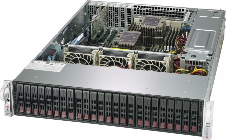 Supermicro 2029P-E1CR24H — пример стандартной серверной платформы для программно-определяемых СХД